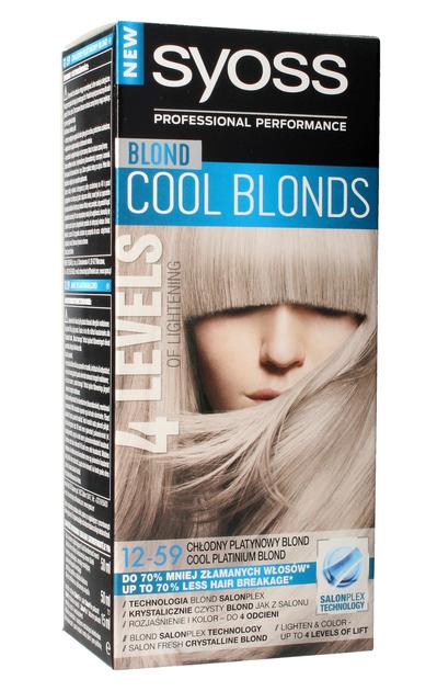 """Schwarzkopf Syoss Farba do włosów Cool Blonds 12-59 Chłodny Platynowy Blond  1op."""""""