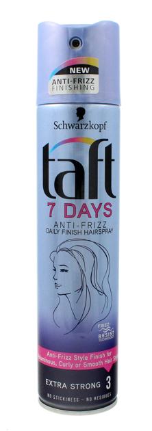 """Schwarzkopf Taft 7Days Lakier do włosów Anti-Frizz super mocny  250ml"""""""