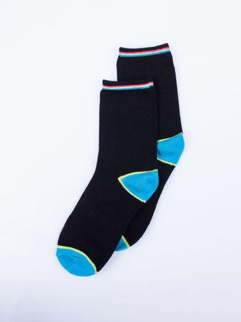 Skarpetki damskie czarne kolorowa stopa i palce mix 5 par                                  zdj.                                  7