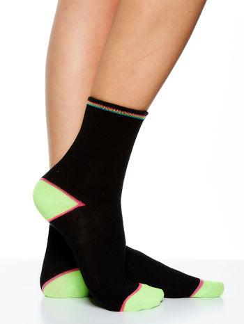 Skarpetki damskie czarne kolorowa stopa i palce mix 5 par                                  zdj.                                  8
