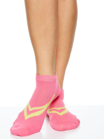 Skarpetki damskie stopki gładkie z geometrycznym nadrukiem mix 5 par                                  zdj.                                  5