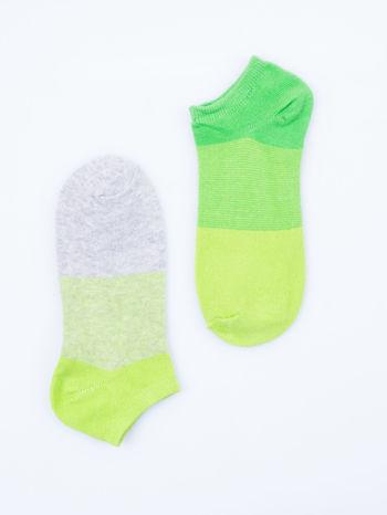 Skarpetki damskie stopki zielony-szary zestaw 2 pary                                  zdj.                                  6