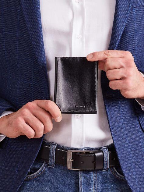 Skórzany portfel dla mężczyzny czarny
