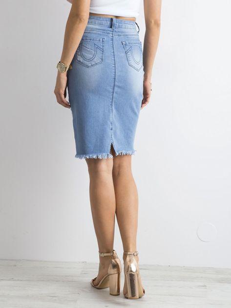 Spódnica jeansowa niebieska                              zdj.                              2