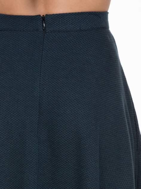 Spódnica midi szyta z półkola w kolorze butelkowej zieleni                                  zdj.                                  6