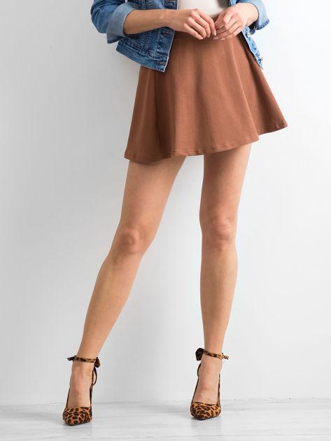 Spódnica rozkloszowana brązowa                              zdj.                              5