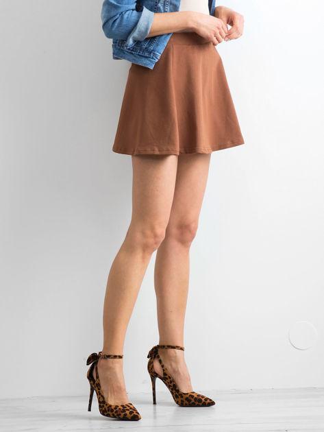 Spódnica rozkloszowana brązowa                              zdj.                              3
