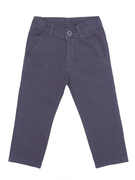Spodnie chłopięce materiałowe ciemnoszare                              zdj.                              1