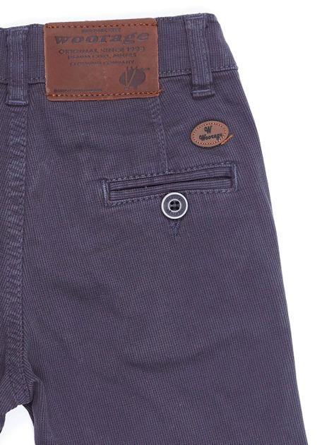 Spodnie chłopięce materiałowe ciemnoszare                              zdj.                              2