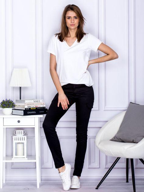 Spodnie czarne z kieszeniami PLUS SIZE                                  zdj.                                  5
