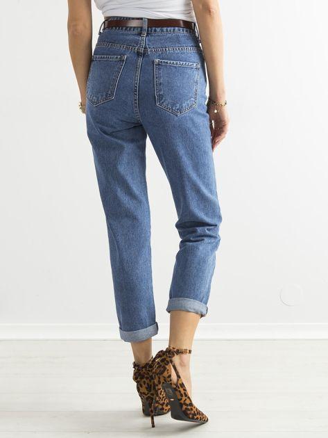 Spodnie damskie mom jeans niebieskie                               zdj.                              2