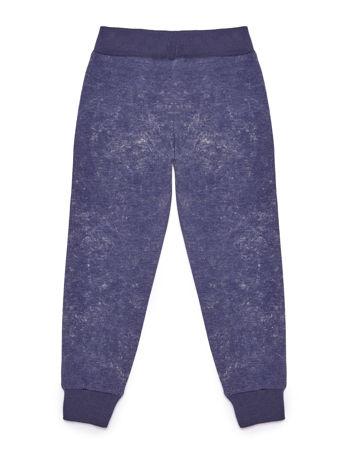 Spodnie dresowe dla dziewczynki granatowe z nadrukiem