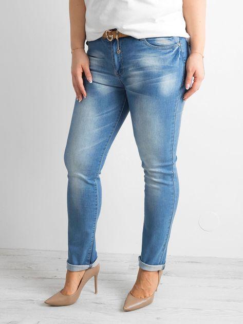 Spodnie jeansowe plus size niebieskie                              zdj.                              1