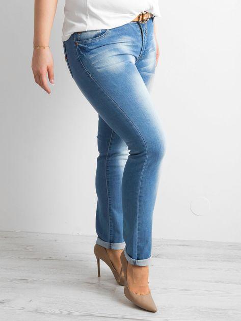 Spodnie jeansowe plus size niebieskie                              zdj.                              3