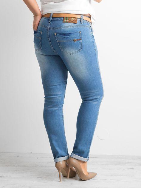 Spodnie jeansowe plus size niebieskie                              zdj.                              2