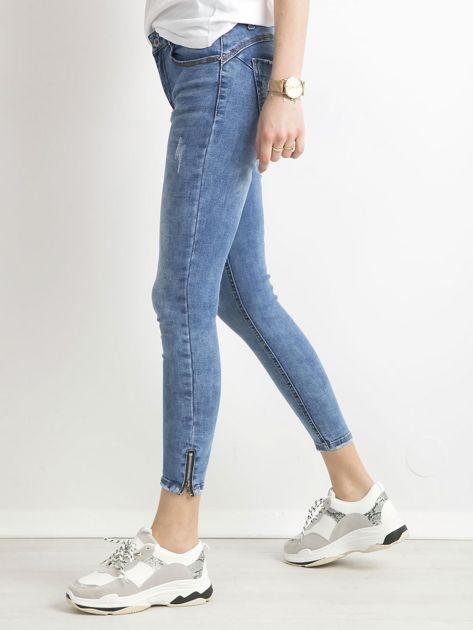 Spodnie jeansowe slim fit niebieskie                              zdj.                              3