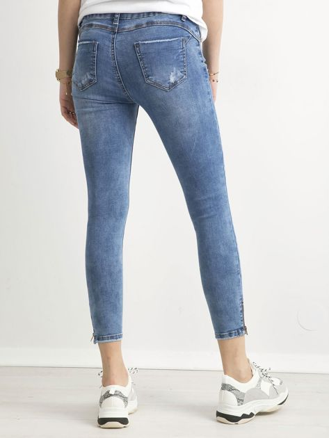 Spodnie jeansowe slim fit niebieskie                              zdj.                              2