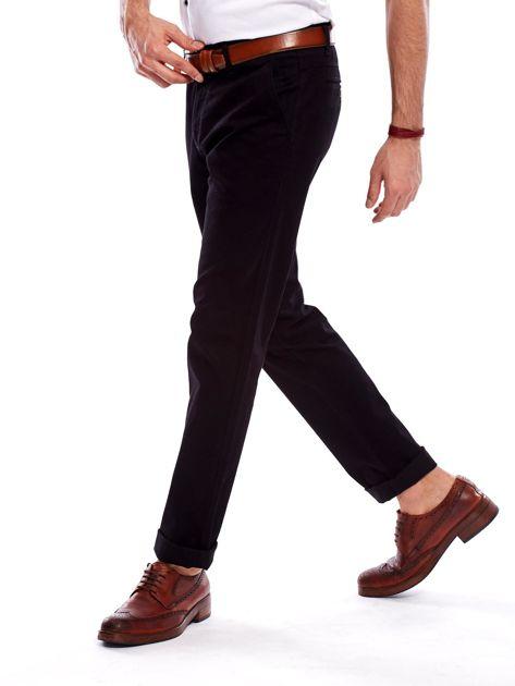 Spodnie męskie czarne o prostym kroju                              zdj.                              10