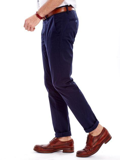Spodnie męskie granatowe chino                              zdj.                              6