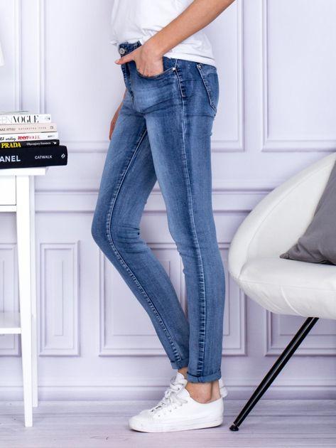 Spodnie niebieskie o kroju slim                                  zdj.                                  3