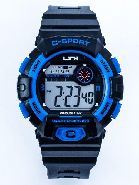 Sportowy wielofunkcyjny zegarek wodoodporny z podświetlaną tarczą i alarmem
