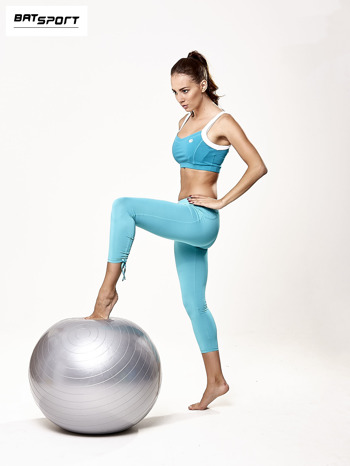 Srebrna średnia piłka fitness                                  zdj.                                  2