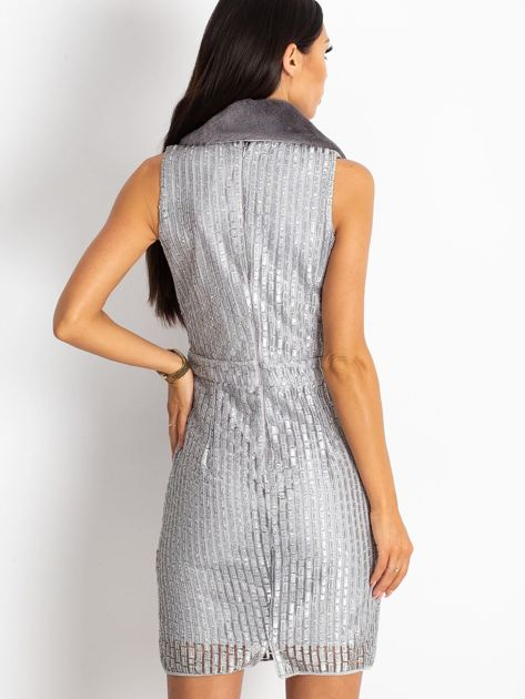 Srebrna sukienka Boost                              zdj.                              2