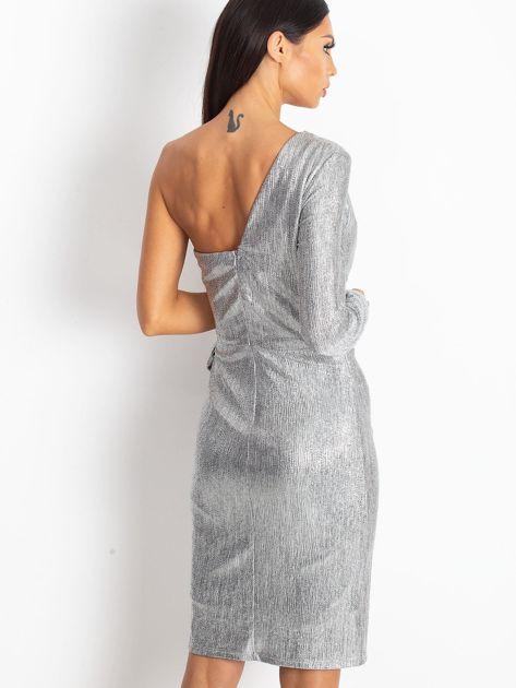 Srebrna sukienka Party                              zdj.                              2