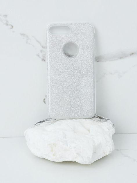Srebrne brokatowe etui do iPhone 7G/8G Plus