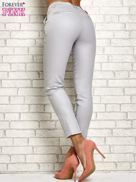 Srebrne brokatowe spodnie                                  zdj.                                  3