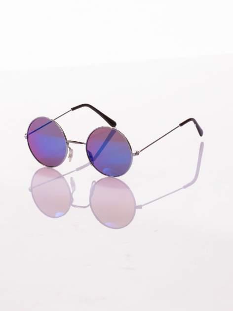 Srebrne okulary przeciwsłoneczne LENONKI