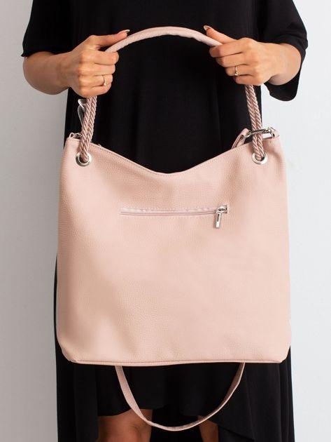 Srebrno-różowa miejska torba                              zdj.                              5