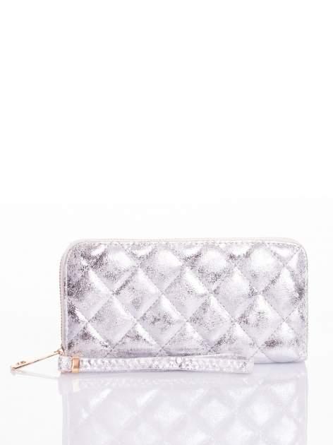 Srebrny pikowany portfel                                  zdj.                                  4