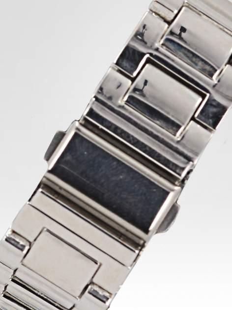 Srebrny zegarek damski na bransolecie z cyrkoniami na kopercie                                  zdj.                                  4