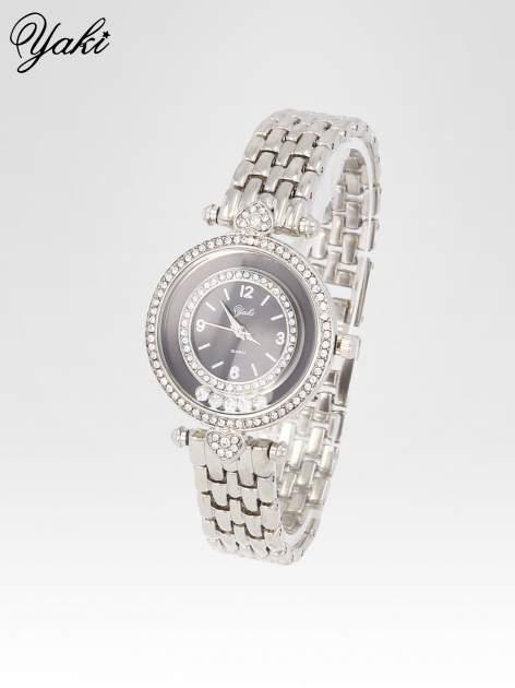 Srebrny zegarek na bransolecie z cyrkoniowym serduszkiem                                  zdj.                                  2