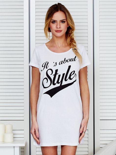 Sukienka bawełniana IT'S ABOUT STYLE biała                                  zdj.                                  1