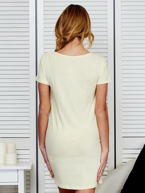 Sukienka bawełniana IT'S ABOUT STYLE jasnożółta                              zdj.                              2