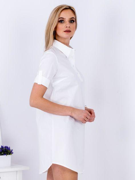 Sukienka biała z kołnierzykiem                              zdj.                              5