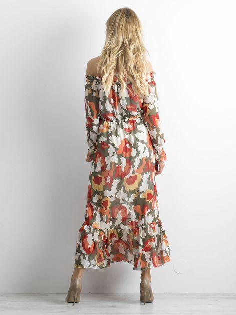 Sukienka hiszpanka we wzory                              zdj.                              2