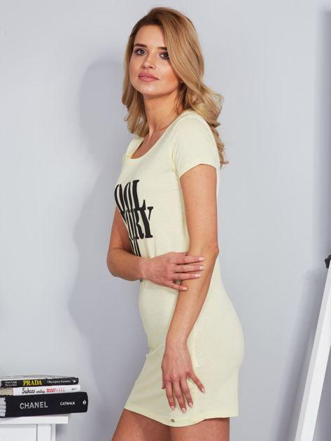 Sukienka jasnożółta bawełniana COOL STORY BRO                              zdj.                              3