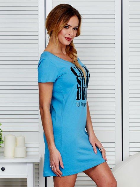 Sukienka niebieska bawełniana COOL STORY BRO                              zdj.                              3