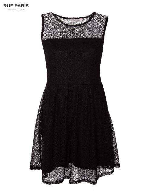 Sukienka pokryta misternie tkaną czarną koronką                                  zdj.                                  1