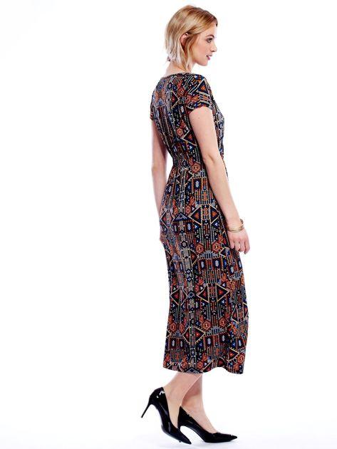 Sukienka w geometryczne wzory maxi                              zdj.                              3