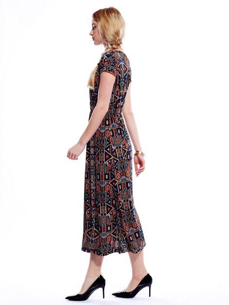 Sukienka w geometryczne wzory maxi                              zdj.                              5