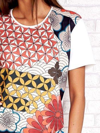 Sukienka w kwiatowe i geometryczne wzory                                  zdj.                                  5