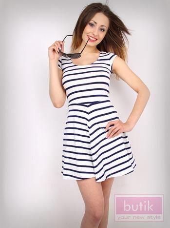 Sukienka w paski                                  zdj.                                  1