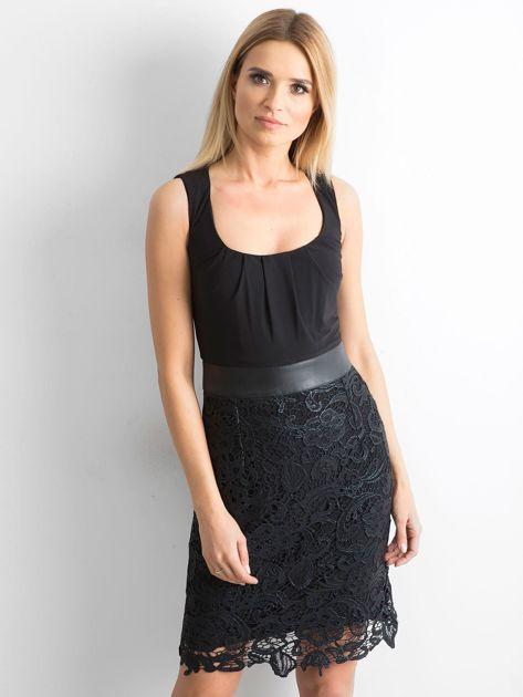 Sukienka z koronką czarna                              zdj.                              1