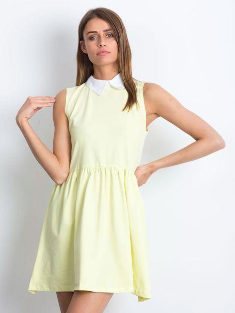 Sukienka żółta z kołnierzykiem                              zdj.                              1