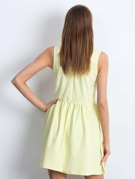 Sukienka żółta z kołnierzykiem                              zdj.                              2