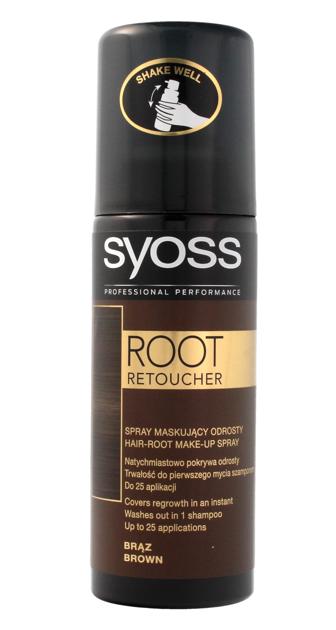 """Syoss Root Retoucher Spray maskujący odrosty -  Brąz  120ml"""""""